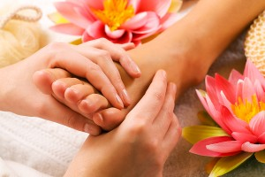foot pamper and self-care for women