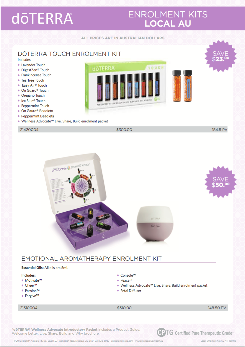 more enrollment kits | Loving oils with Bree