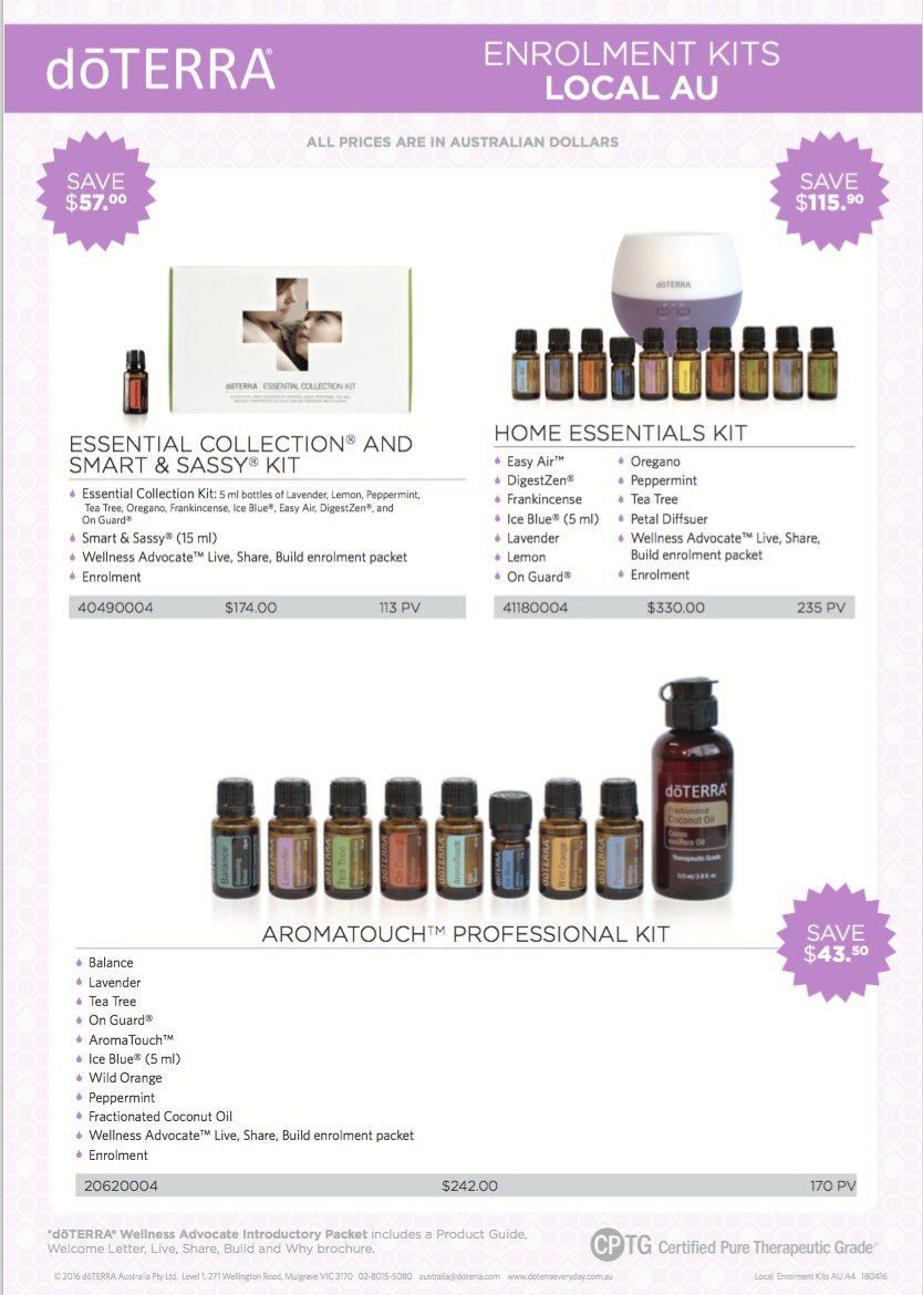 enrollment kits | loving oils with Bree