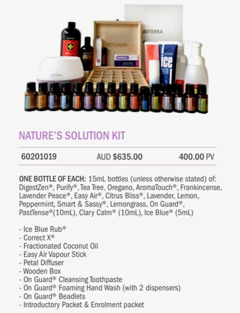 Natures solutions kit with doTERRA   Bree Taylor Molyneaux