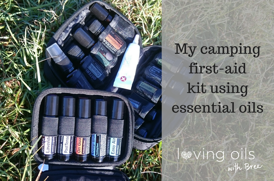 Camping First-Aid Kit using essential oils