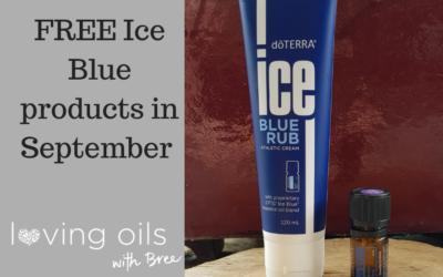 FREE for new members in September – $107 in Ice Blue products