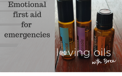 Emotional first aid in emergencies using essential oils