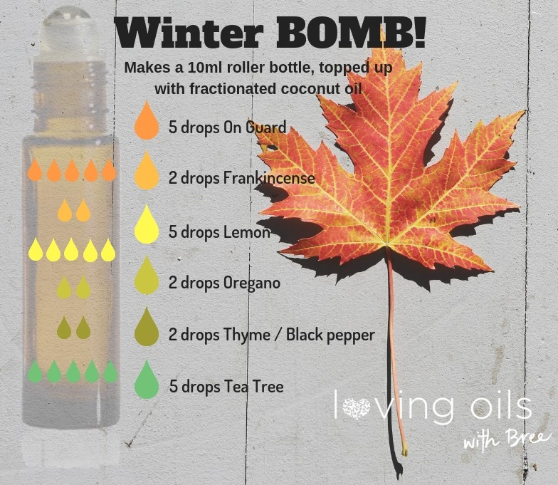 Winter Bomb roller recipe | Loving oils with Bree